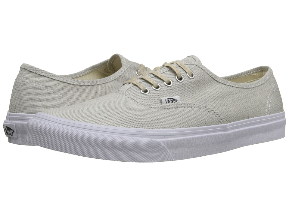 Vans - Authentic Slim ((Chambray) Gray/True White) Skate Shoes