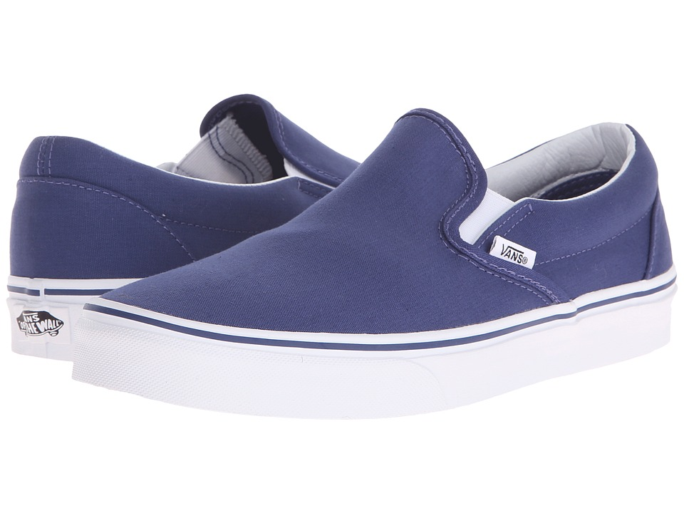 Vans - Classic Slip-On (Twilight Blue/True White) Skate Shoes