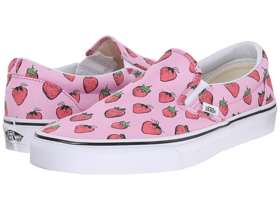 Vans - Classic Slip-On ((Strawberries) Pastel Lavender/True White) Skate Shoes