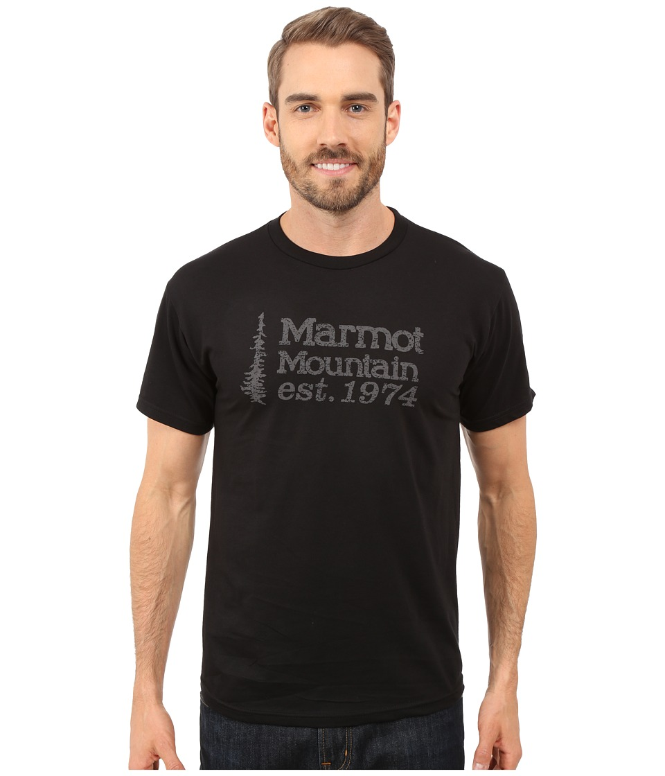 Marmot - 74 Short Sleeve Tee (Black) Men's T Shirt