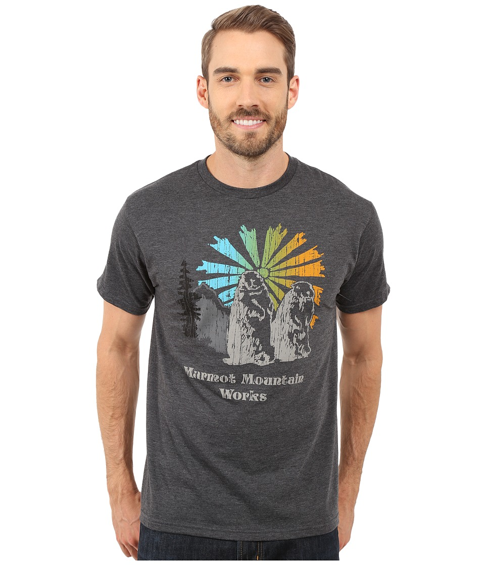 Marmot - Heritage Short Sleeve Tee (Charcoal Heather) Men's T Shirt