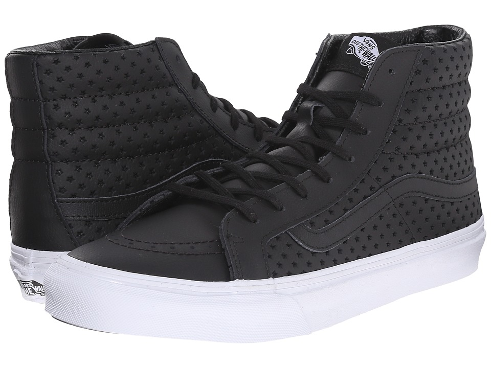 Vans - SK8-Hi Slim ((Perf Stars) Black/White) Skate Shoes