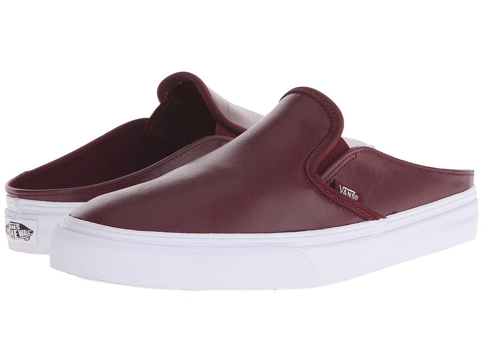 Vans - Classic Slip-On Mule ((Leather) Port Royale/True White) Shoes