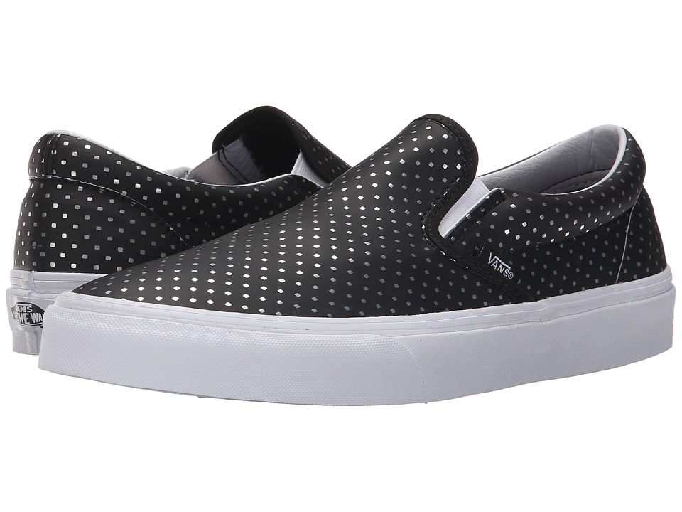 Vans - Classic Slip-On ((Perf Hologram) Black/True White) Skate Shoes