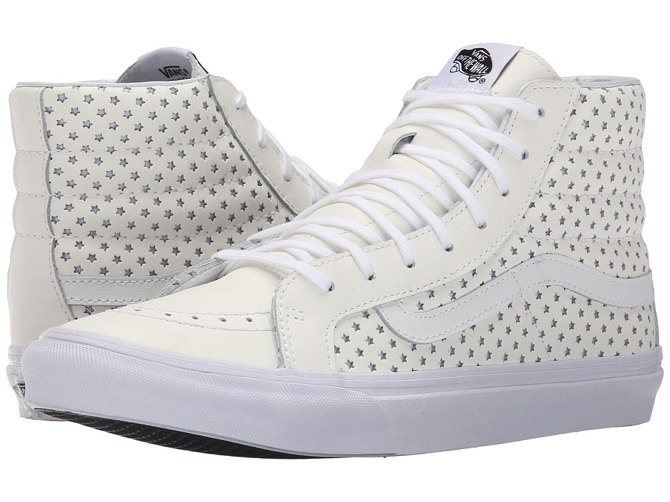 Vans - SK8-Hi Slim ((Perf Stars) True White) Skate Shoes