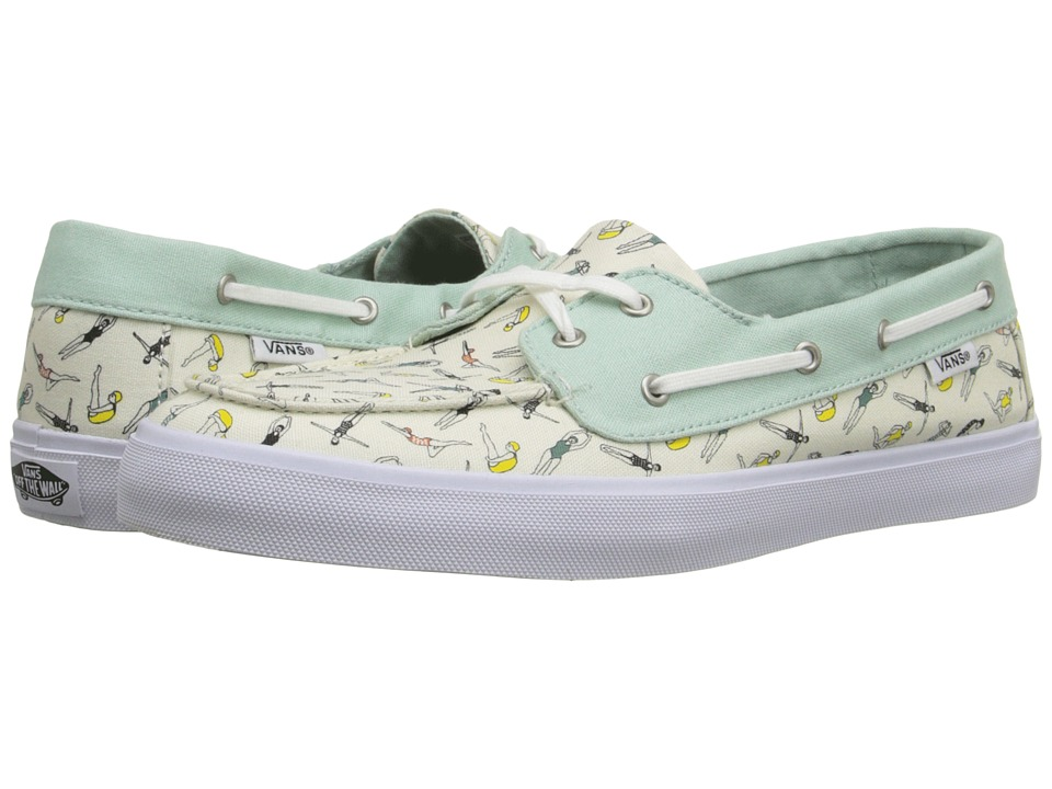 Vans - Chauffette SF ((Swimmers) Gossamer Green/Classic White) Women's Lace up casual Shoes