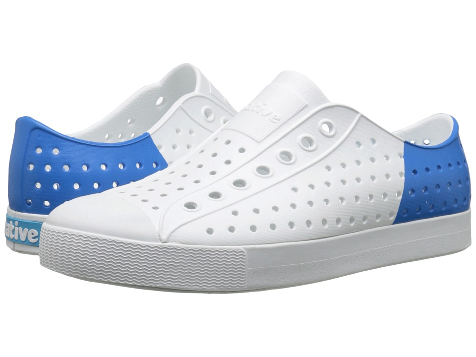 Native Shoes - Jefferson (Shell White/Shell White/Barracuda Blue Block) Shoes