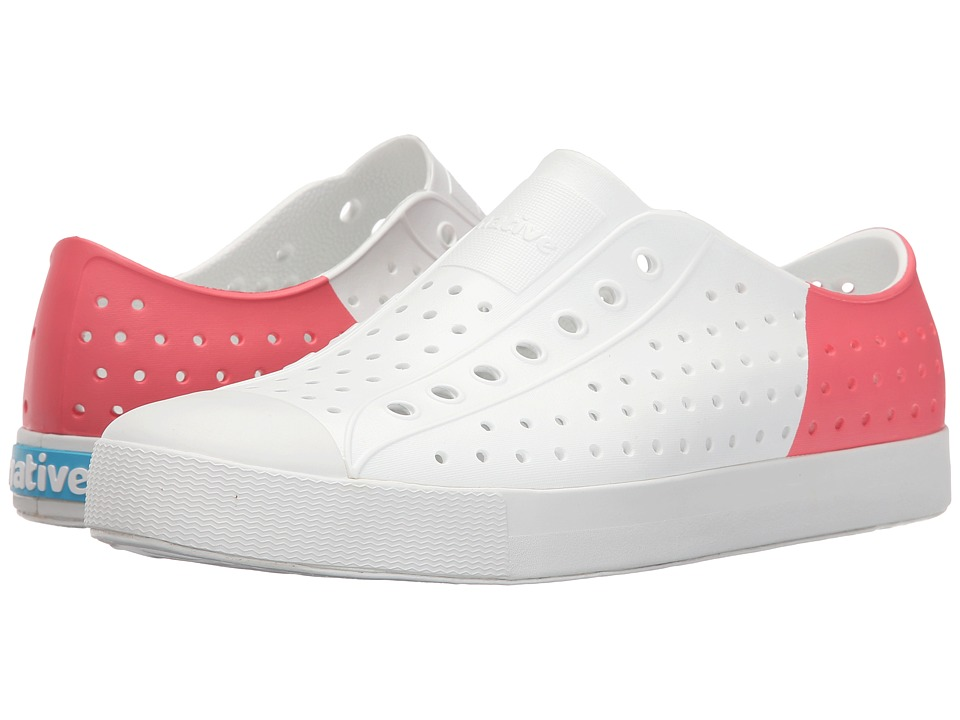 Native Shoes - Jefferson (Shell White/Shell White/Snapper Red Block) Shoes