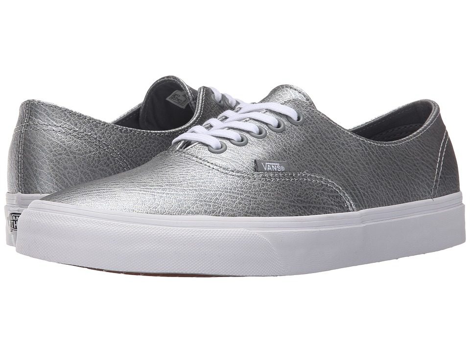 Vans Scotchgard Authentic Decon ((Metallic Leather) Gray) Skate Shoes