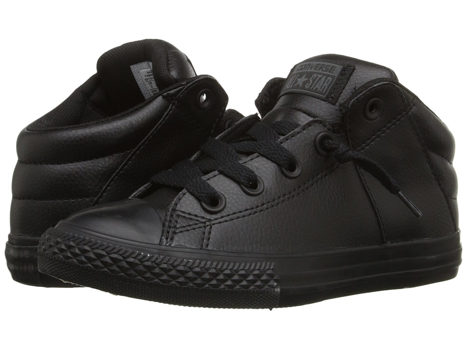 Converse Kids - Chuck Taylor All Star Axel Mid (Little Kid/Big Kid) (Black/Black/Black) Boys Shoes