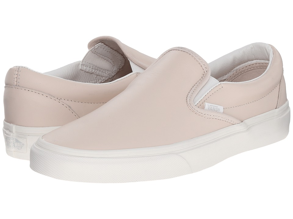 Vans - Classic Slip-On ((Leather) Whispering Pink/Blanc de Blanc) Skate Shoes