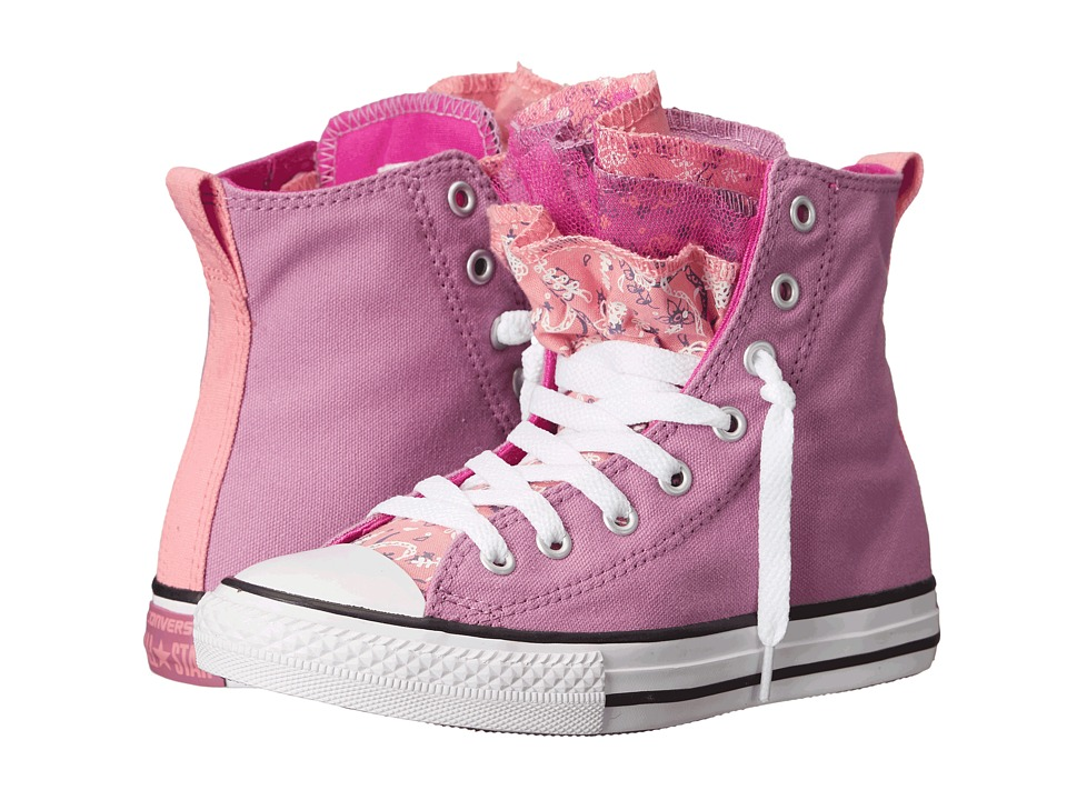 Converse Kids - Chuck Taylor All Star Party Hi (Little Kid/Big Kid) (Powder Purple/Daybreak Pink/Plastic Pink) Girl's Shoes