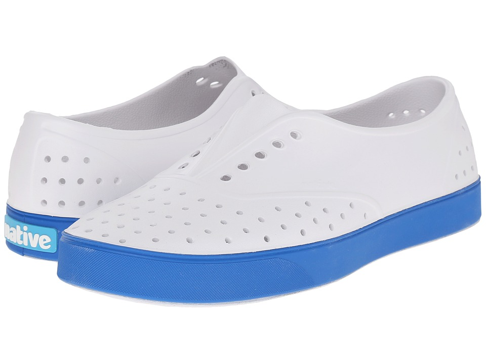 Native Shoes - Miller (Shell White/Barracuda Blue) Slip on Shoes