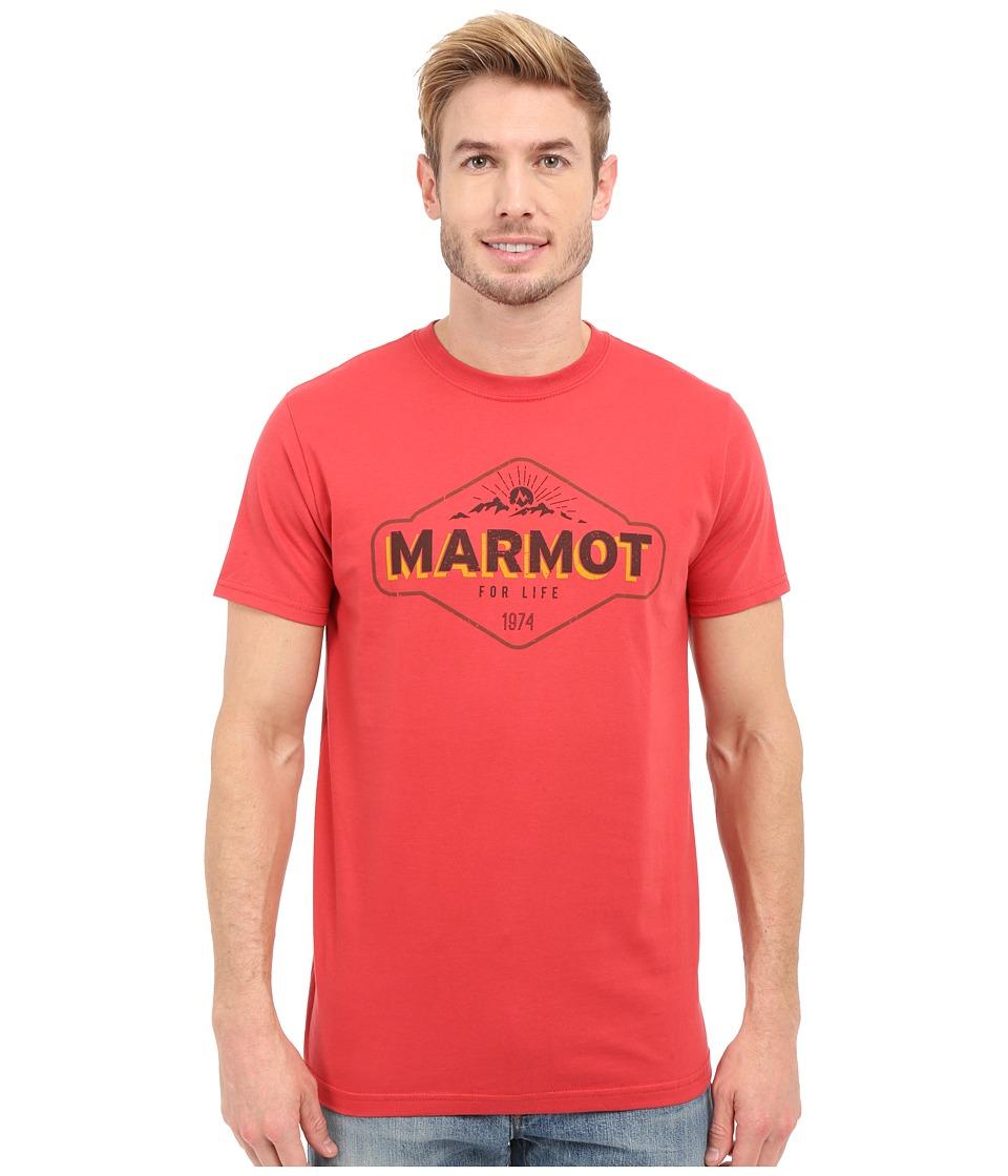 Marmot - Trinity Short Sleeve Tee (Cardinal) Men's T Shirt