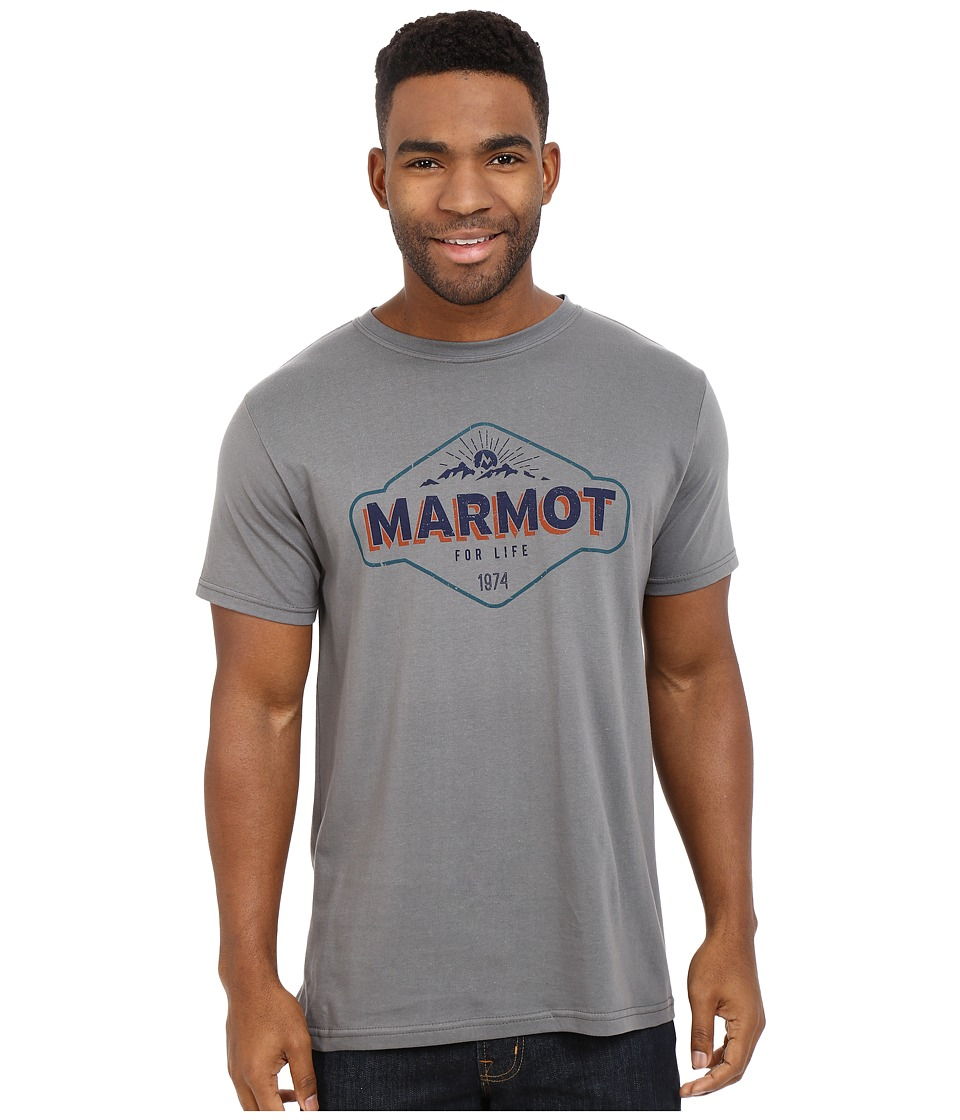 Marmot - Trinity Short Sleeve Tee (Charcoal) Men's T Shirt