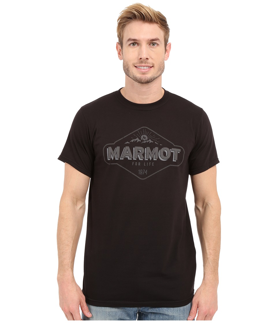Marmot Trinity Short Sleeve Tee (Black) Men