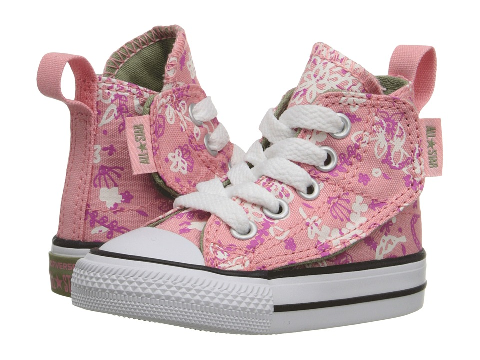 Converse Kids - Chuck Taylor All Star Simple Step (Infant/Toddler) (Daybreak Pink/Plastic Pink/Street Sage) Girls Shoes