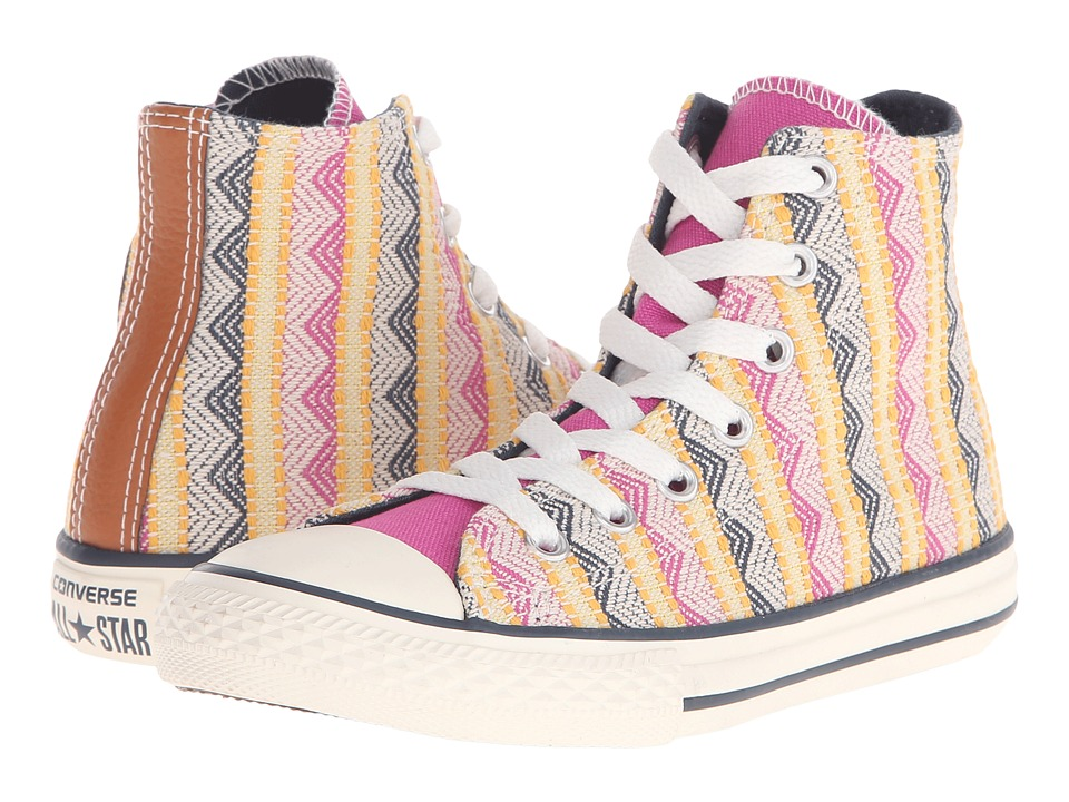 Converse Kids - Chuck Taylor All Star Hi (Little Kid/Big Kid) (Plastic Pink/Solar Orange/Aurora Yellow) Girls Shoes