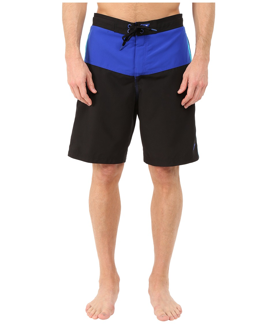 Speedo - Long Bay E-Board (Black/Blue) Men's Swimwear