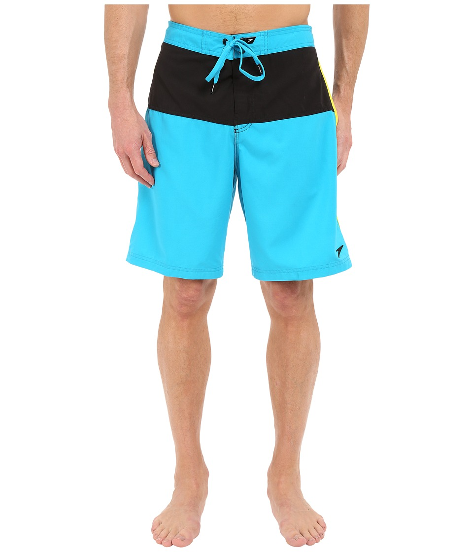 Speedo - Long Bay E-Board (Cyan) Men's Swimwear