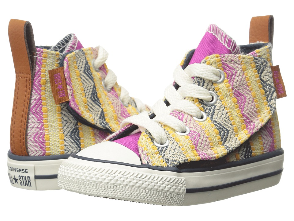 Converse Kids - Chuck Taylor All Star Simple Step (Infant/Toddler) (Plastic Pink/Solar Orange/Aurora Yellow) Girls Shoes