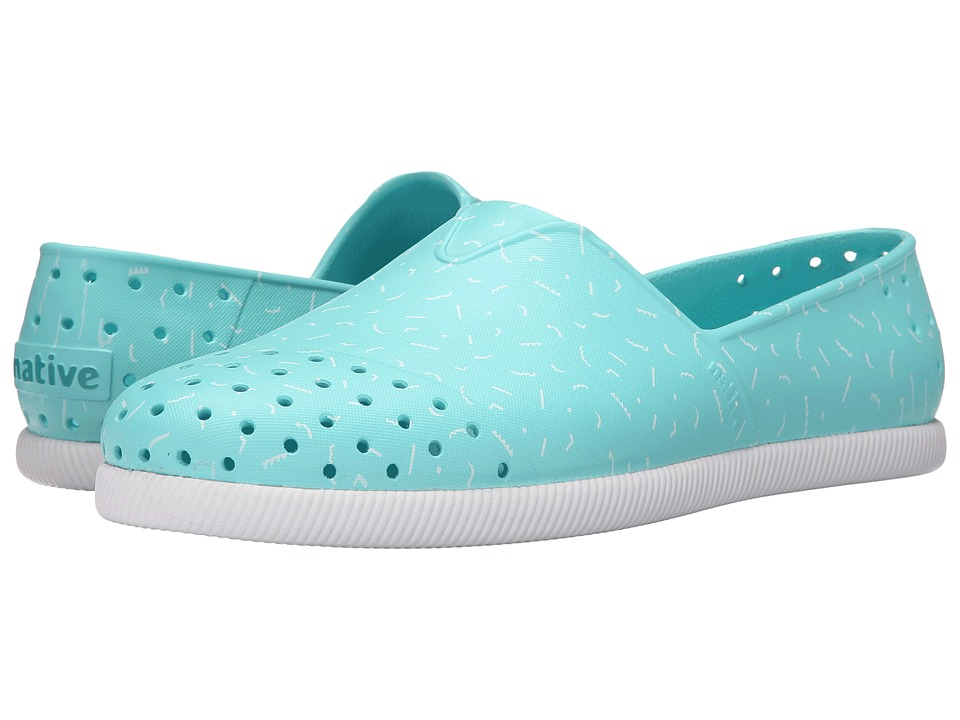 Native Shoes - Verona (Cabo Blue/Shell White/Tik Tak Print) Shoes