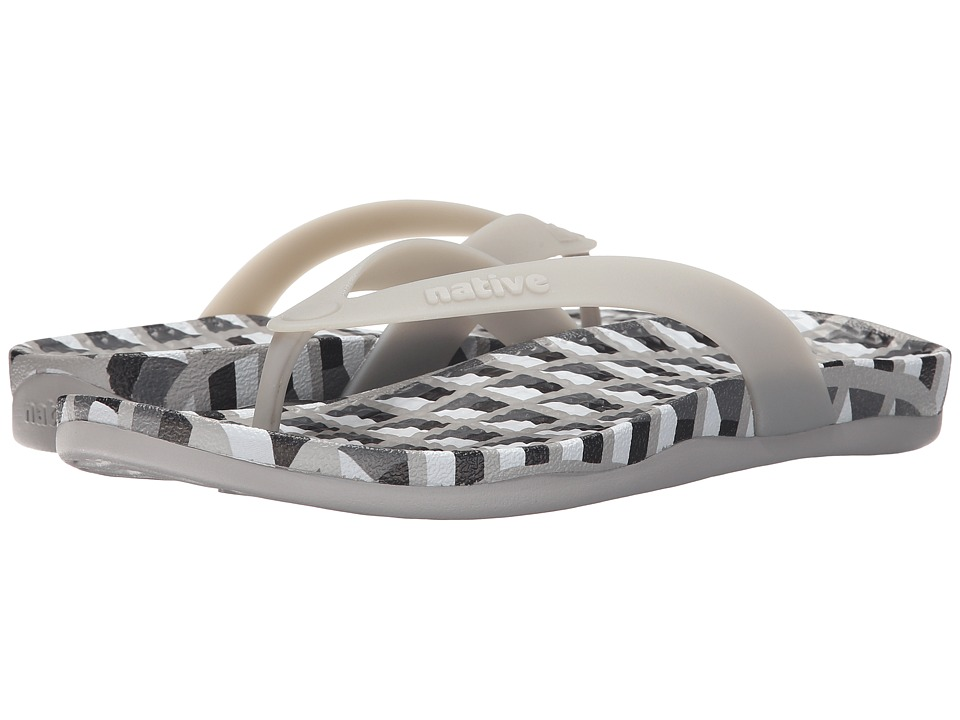 Native Shoes - Paolo (Pigeon Grey/Pigeon Grey/Geo Deco) Sandals