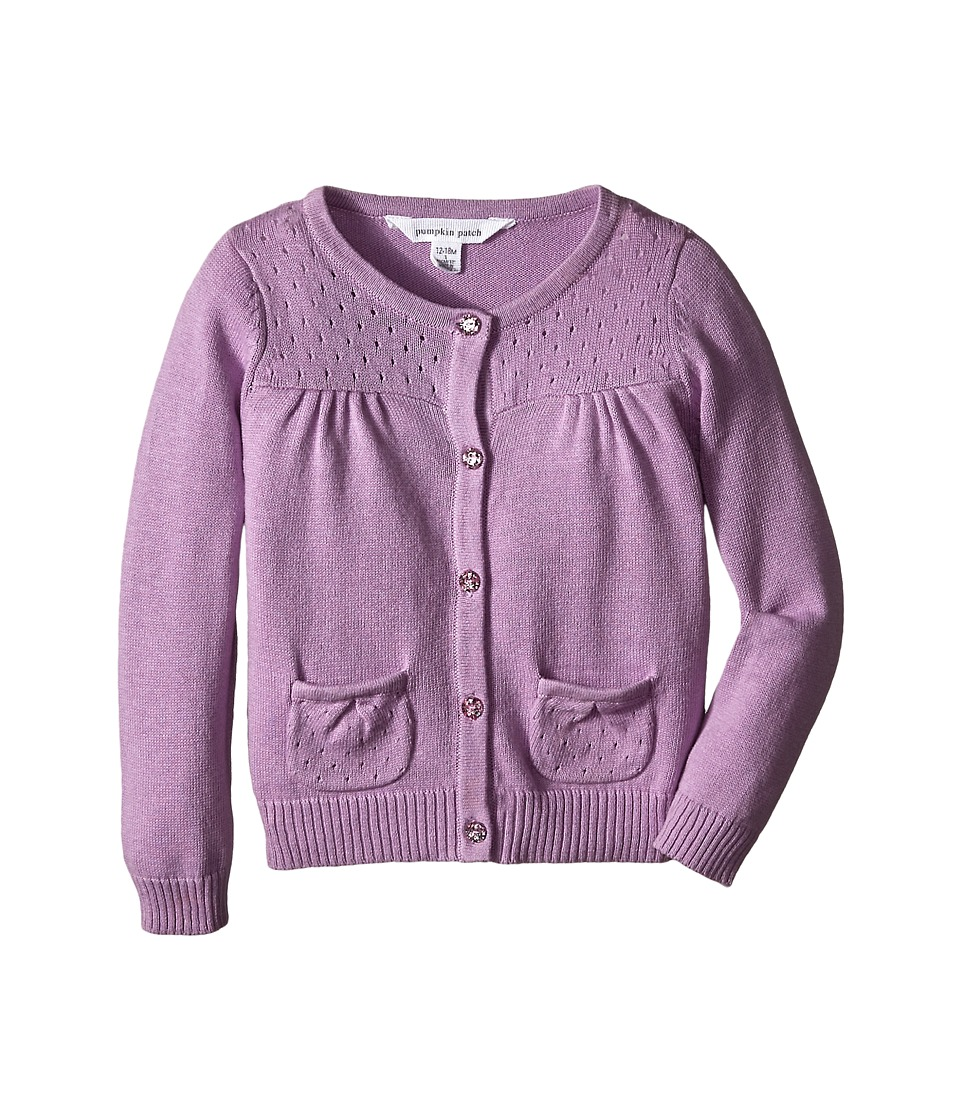 Pumpkin Patch Kids - Core Essentials Girls Cardigan (Infant/Toddler/Little Kids/Big Kids) (Lupin) Girl's Sweater