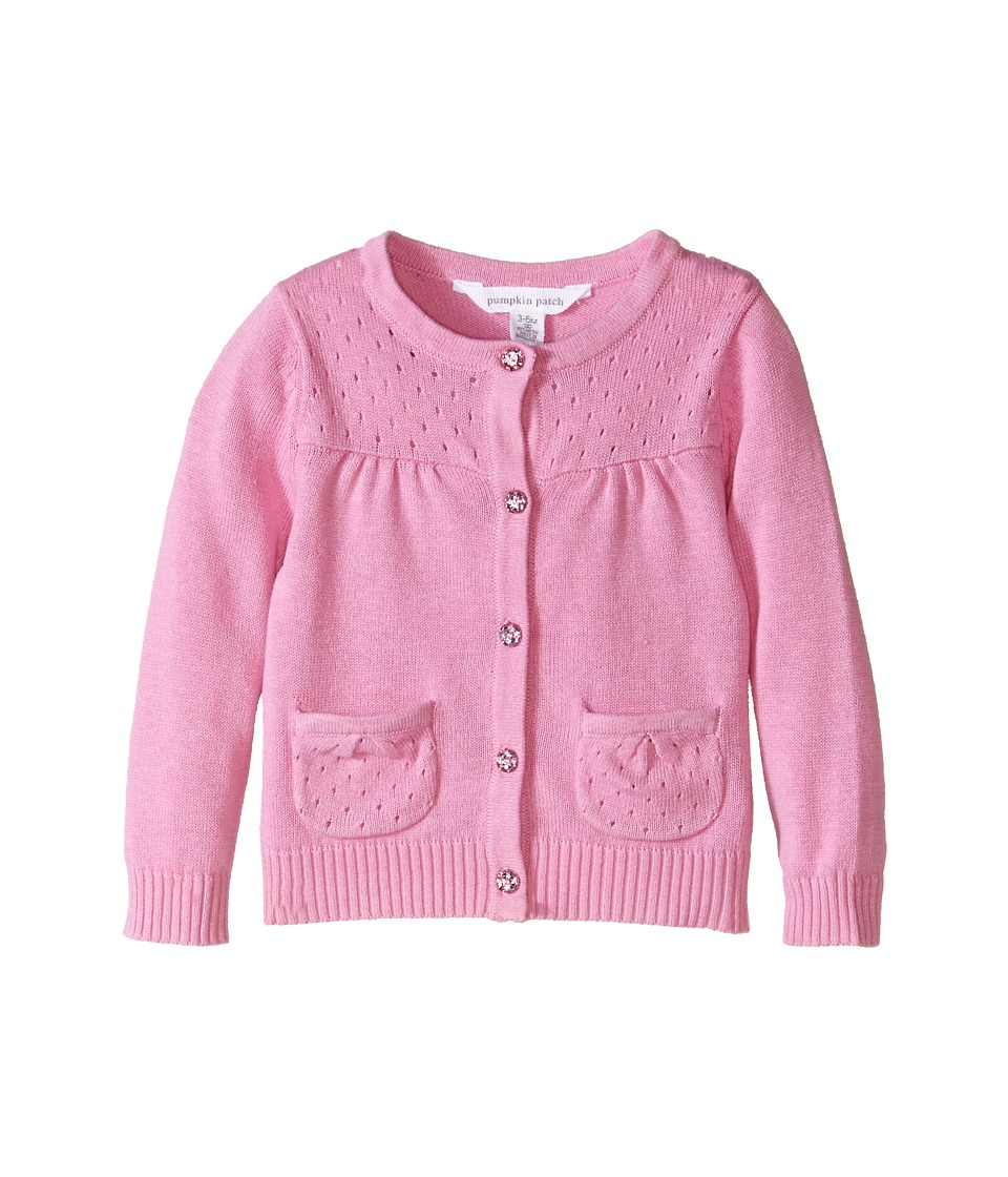Pumpkin Patch Kids - Core Essentials Girls Cardigan (Infant/Toddler/Little Kids/Big Kids) (Sherbert) Girl's Sweater