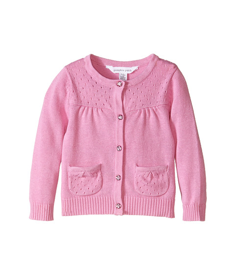 Pumpkin Patch Kids - Core Essentials Girls Cardigan (Infant/Toddler/Little Kids/Big Kids) (Sherbert) Girl