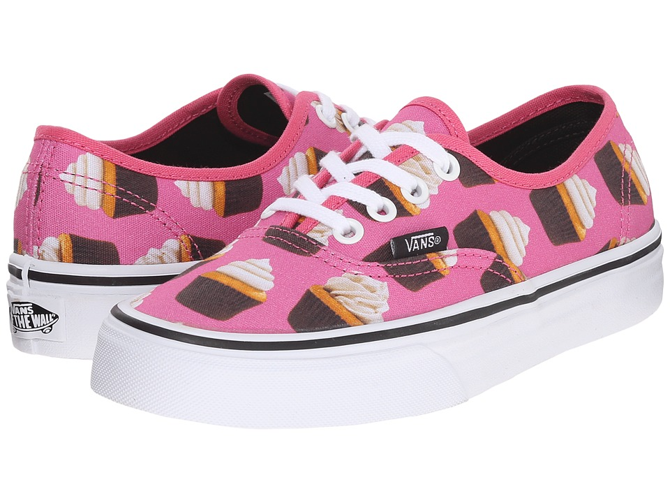 Vans - Authentic ((Late Night) Hot Pink/Cupcakes) Skate Shoes