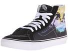 SK8-Hi Slim ((Dolphin Beach) Black/True White) Skate Shoes