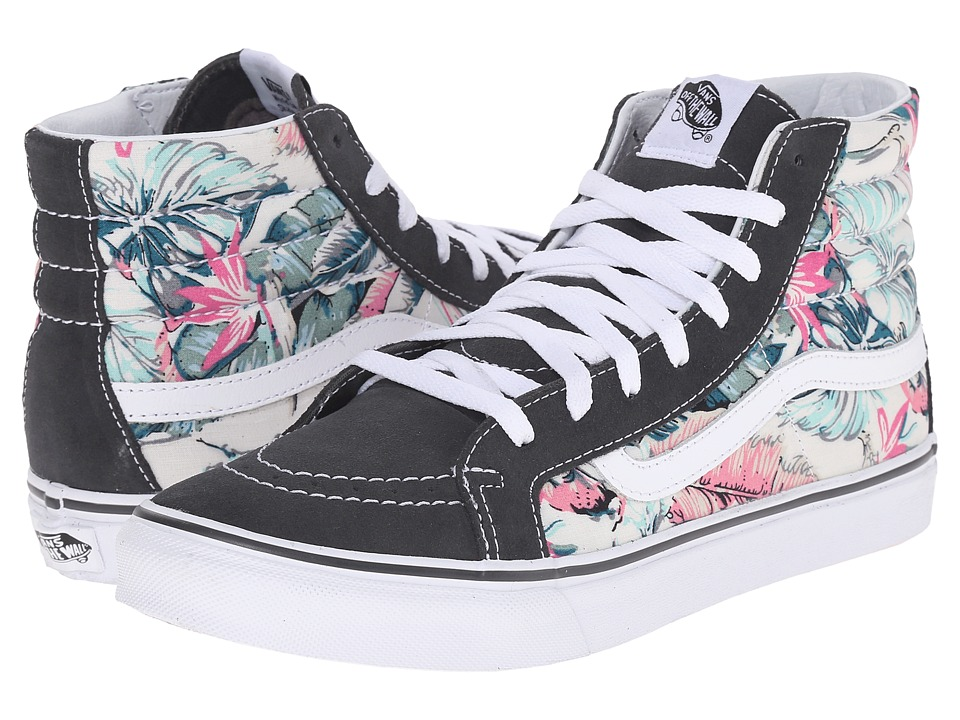 Vans - SK8-Hi Slim ((Tropical) Multi/True White) Skate Shoes