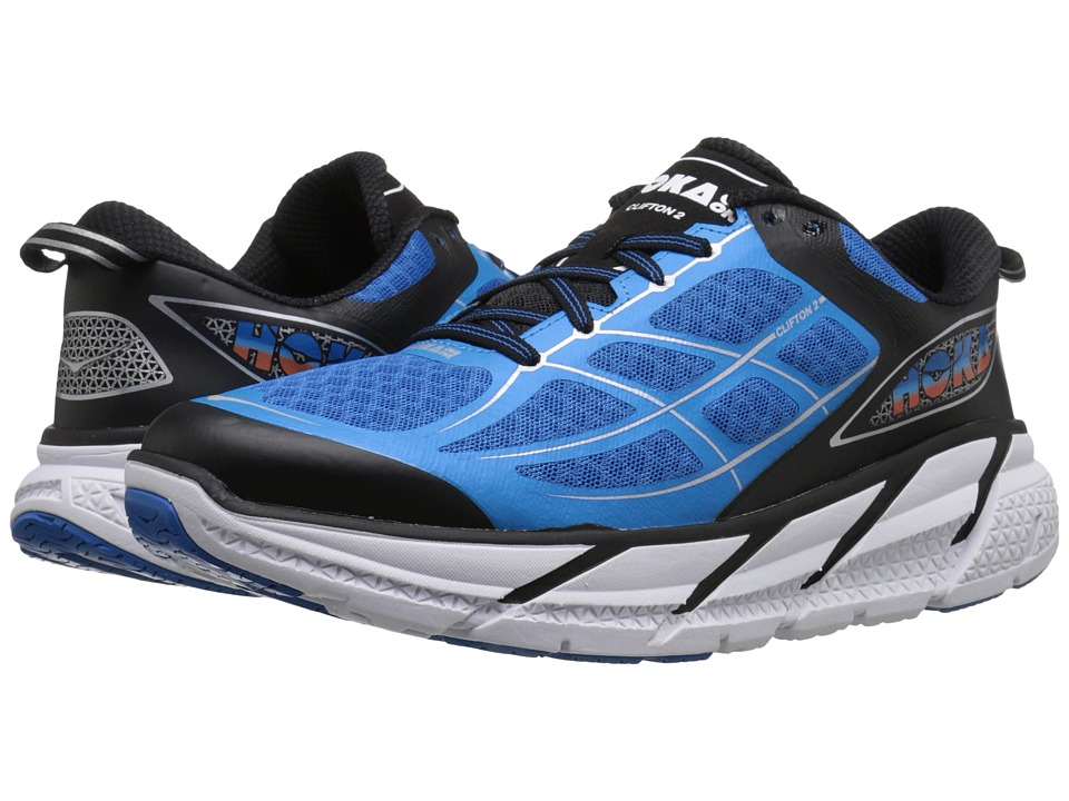 Hoka One One - Clifton 2 (Diretoire Blue/Flame) Men's Running Shoes