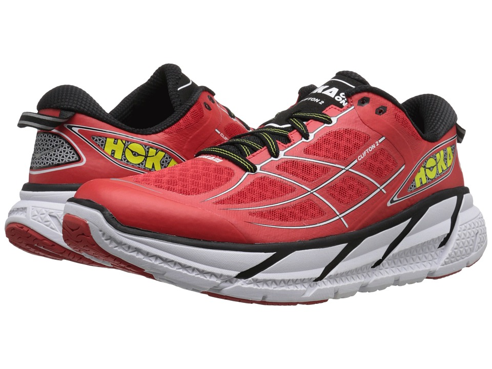 Hoka One One - Clifton 2 (Poppy Red/White) Men's Running Shoes