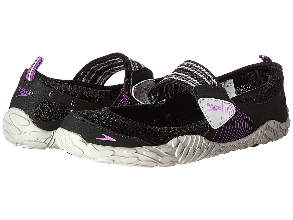 Speedo - Offshore Strap (Black/Purple) Women's Shoes