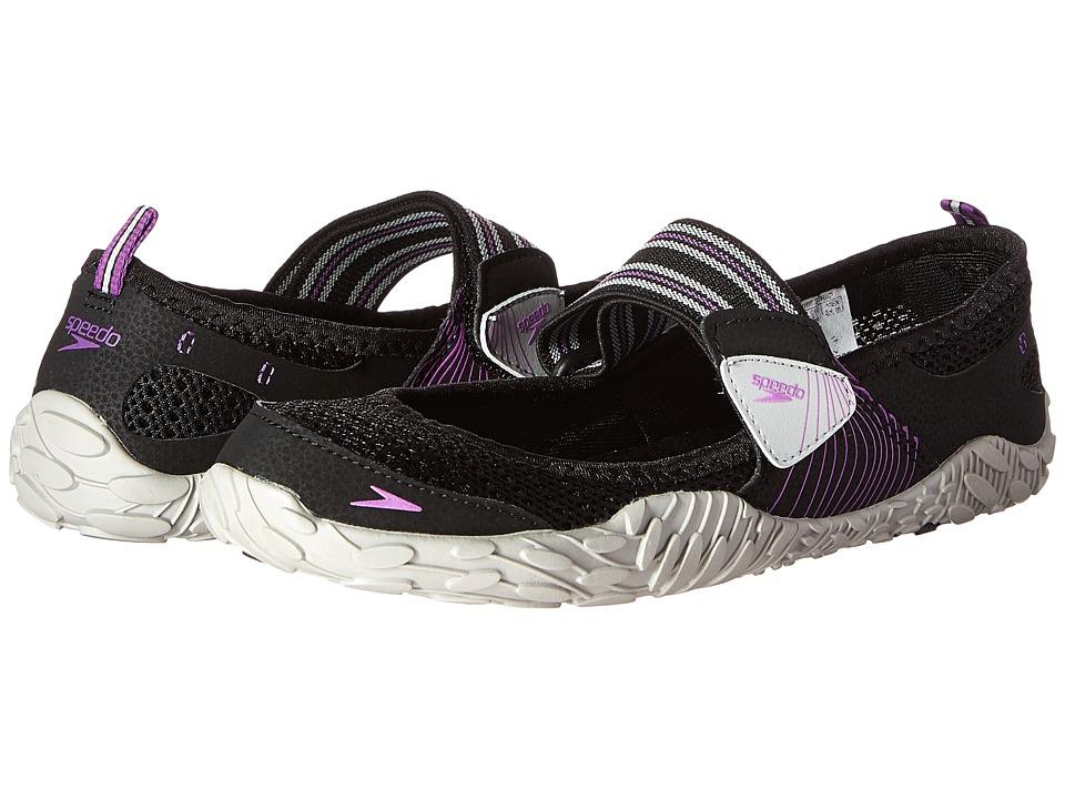 Speedo Offshore Strap (Black/Purple) Women