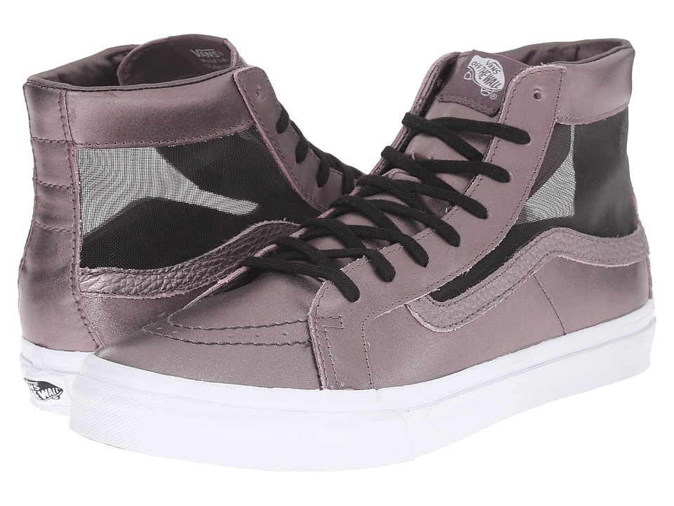 Vans - SK8-Hi Slim Cutout ((Mesh Metallic) Thistle Purple/True White) Shoes