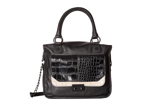 Steve Madden - Bpushy Croc Tote (Black/Cream/Black) Tote Handbags