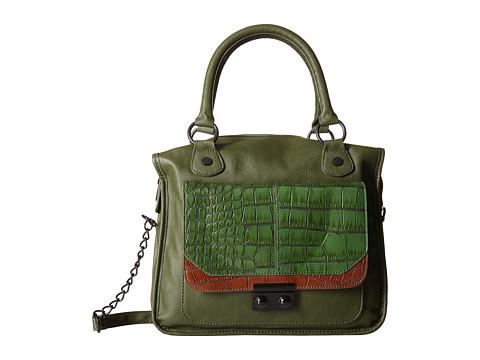 Steve Madden - Bpushy Croc Tote (Green/Cognac/Green) Tote Handbags
