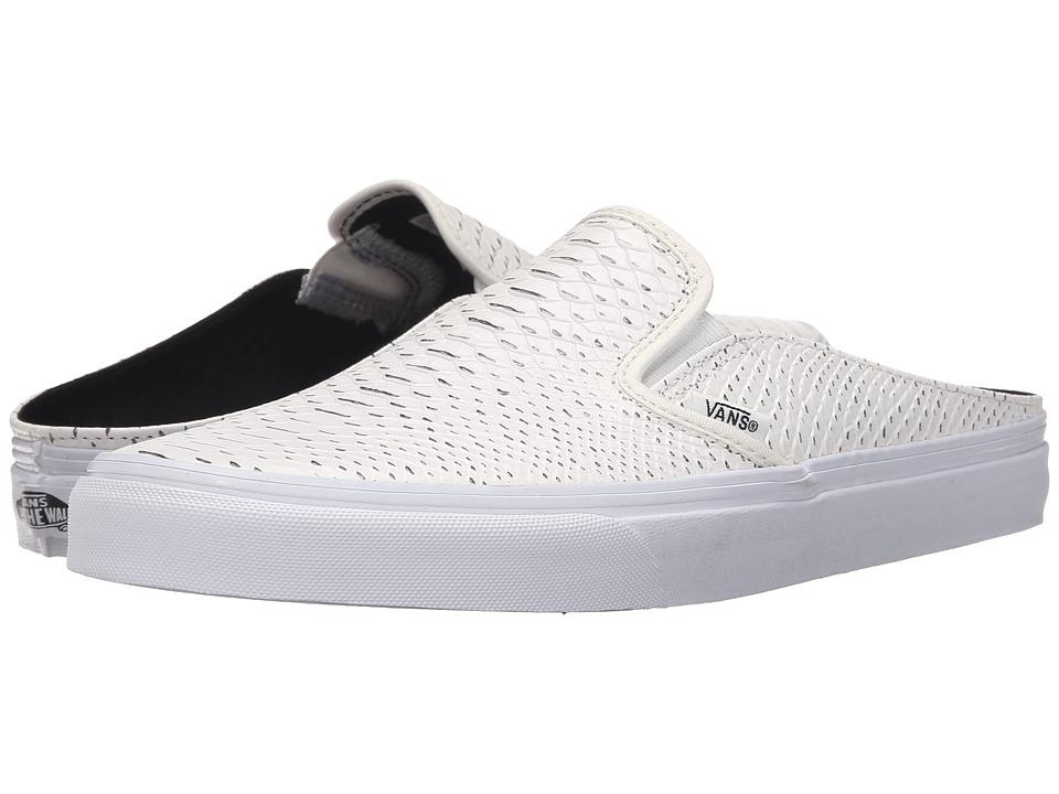 Vans - Classic Slip-On Mule ((Embossed Python) White/True White) Shoes