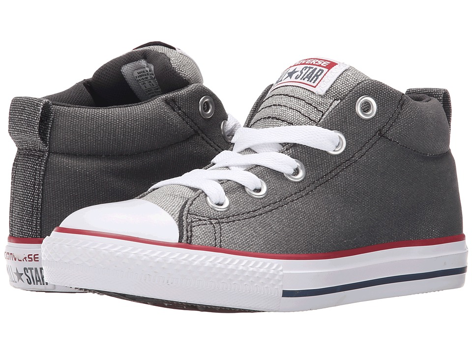 Converse Kids - Chuck Taylor All Star Street Mid (Little Kid/Big Kid) (Dolphin/Almost Black/White) Boys Shoes