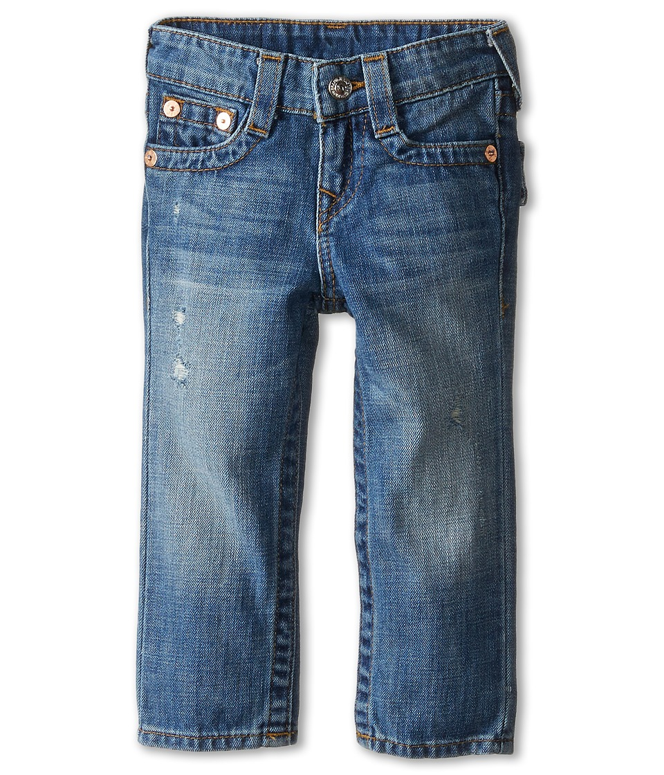 True Religion Kids - Geno Relaxed Slim Vintage Gold Single End Classic in Crown Blue (Toddler/Little Kids) (Crown Blue) Boy's Jeans