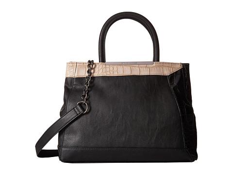 Steve Madden - Blaci Croc Tote (Black/Black/Cream) Tote Handbags