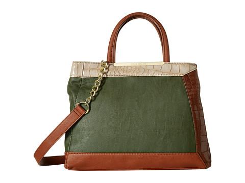 Steve Madden - Blaci Croc Tote (Green/Cognac/Taupe) Tote Handbags