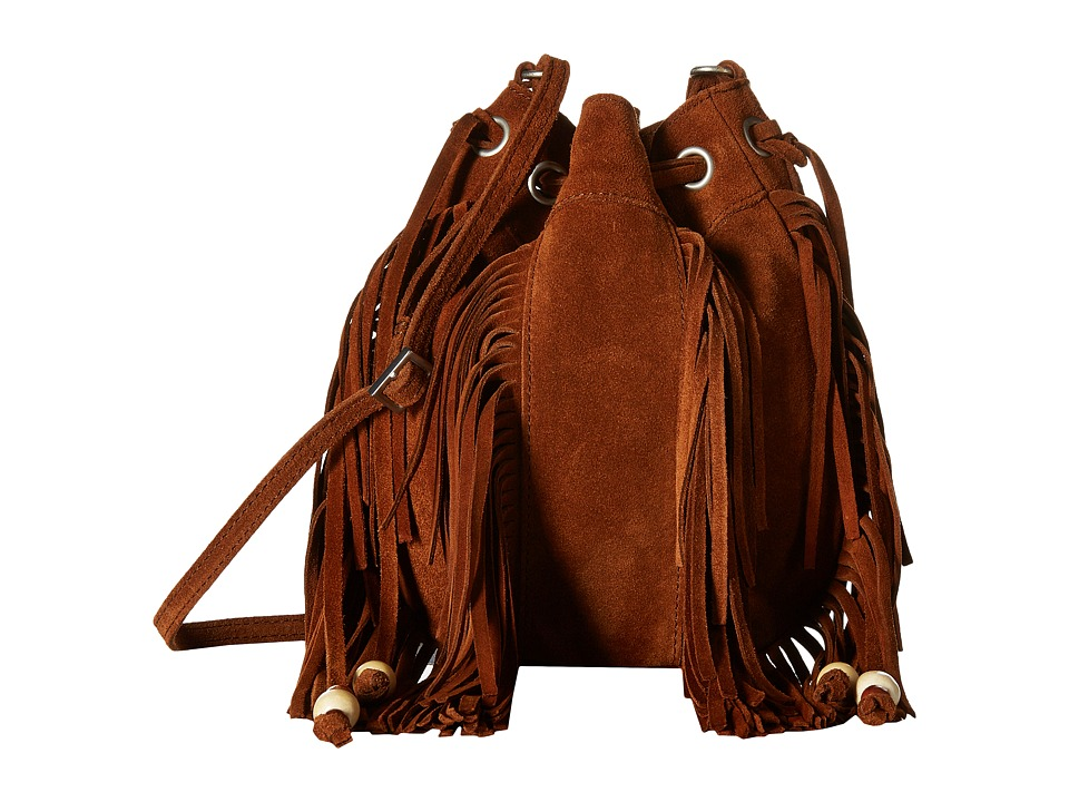 TOMS - Celestial Soft Suede Mini Crossbody (Amber) Cross Body Handbags