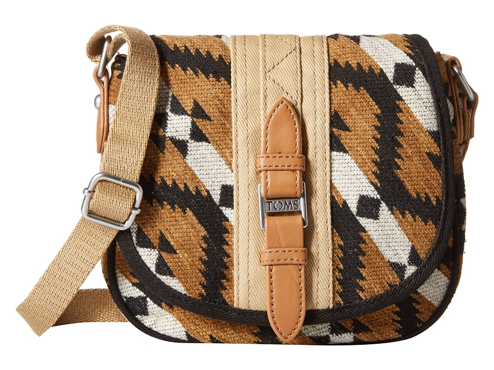 TOMS - Aurora Navajo Crossbody (Amber) Cross Body Handbags
