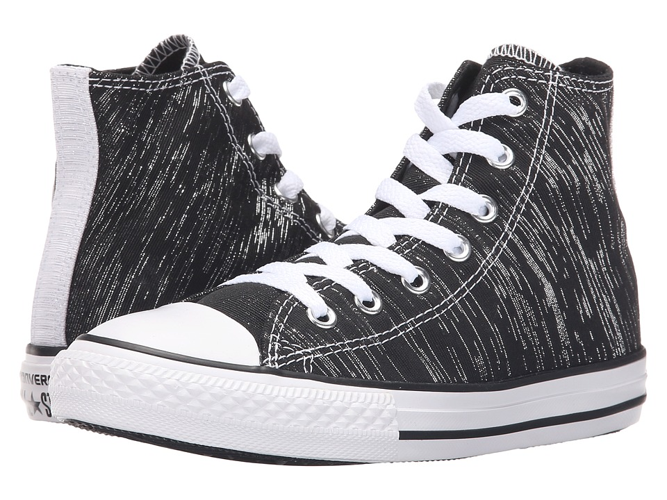 Converse Kids - Chuck Taylor All Star Hi (Little Kid/Big Kid) (Black/White/Black) Girls Shoes