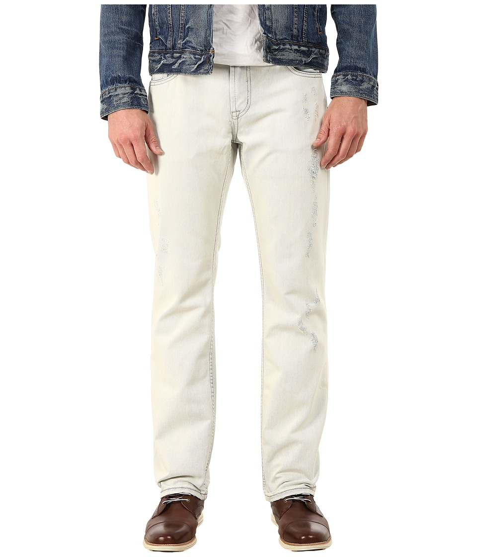 Seven7 Jeans - Bleached Distressed Straight Leg Jeans in Blizzard Blue (Blizzard Blue) Men