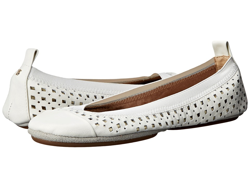 Yosi Samra - Samantha (White/Pure Gold) Women's Flat Shoes